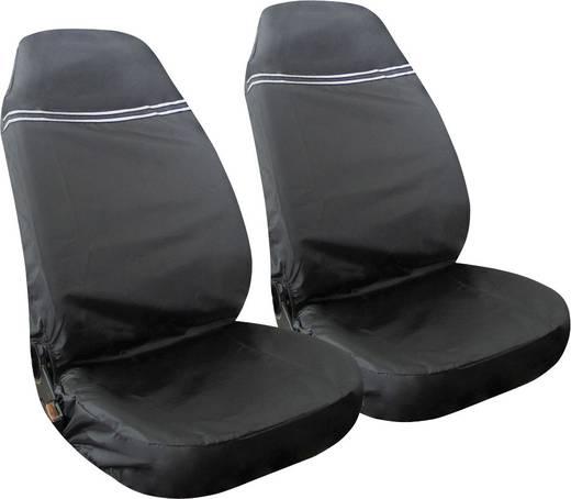 Werkstattschoner 2fach Eufab 28115 Polyester Schwarz, Silber (reflektierend) Fahrersitz, Beifahrersitz