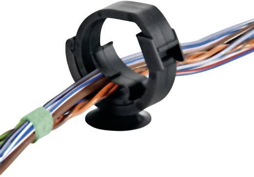 HellermannTyton 151-00370 AHC3BHR Kabelhalter selbstverschließend, wiederverschliessbar Schwarz 1 St.