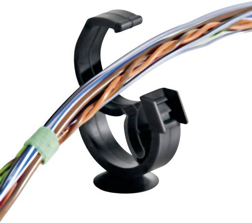 HellermannTyton 151-00208 AHC2BH Kabelhalter selbstverschließend, wiederverschliessbar Schwarz 1 St.