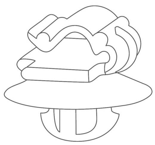 Kabelhalter mit Spreizanker Schwarz HellermannTyton 151-00673 KSFT6,5OC1-3 1 St.