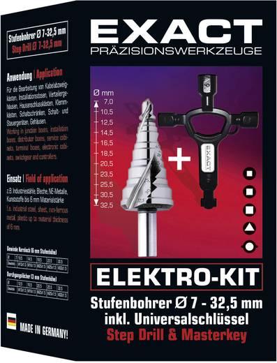 HSS Stufenbohrer 7 - 32.5 mm Exact 70606 Zylinderschaft 1 Set