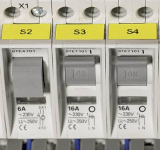 Kabel-Etikett Helatag 20 x 8 mm Farbe Beschriftungsfeld: Gelb HellermannTyton 594-11102 TAG121LA4-1102-YE Anzahl Etikett