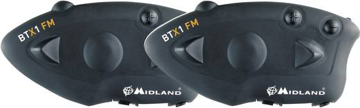 Motorrad-Gegensprechanlage Midland C1142.01 BTX 1 FM Passend für alle Helmtypen