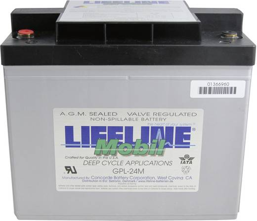 LifeLine GPL24M 12V 80Ah GPL24M Bleiakku 12 V 80 Ah Blei-Vlies (AGM) (B x H x T) 283 x 235 x 172 mm M8-Schraubanschluss