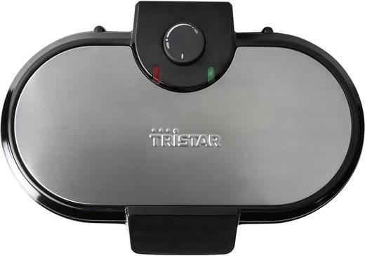 Herz-Waffeleisen mit manueller Temperatureinstellung Tristar WF-2120 Edelstahl, Schwarz