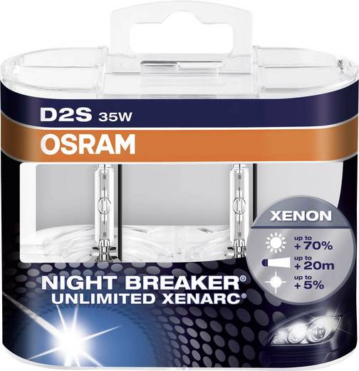OSRAM Xenon Leuchtmittel Xenarc Night Breaker Unlimited D2S 35 W