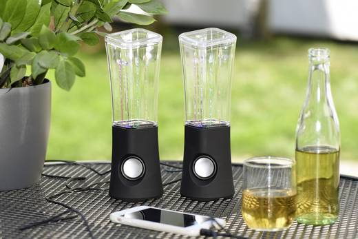 2.0 PC-Lautsprecher Kabelgebunden ednet Water Beats USB Lautsprecher, schwarz 3 W Schwarz