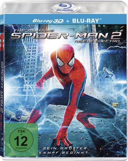 blu-ray 3D The Amazing Spider-Man 2 - Rise of Electro (+ 2D Blu-ray) FSK: 12