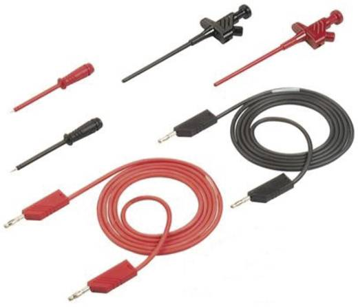 SKS Hirschmann PMS 4 CO Messleitungs-Set [Lamellenstecker 4 mm - Lamellenstecker 4 mm] 1 m Schwarz, Rot
