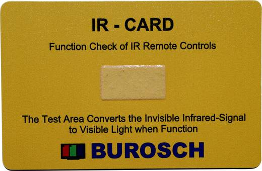IR-Indikatorkarte 980 nm Burosch IR-CARD