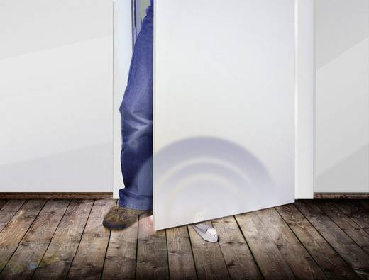Alarmtürstopper Weiß, Silber 120 dB X4-LIFE 701376