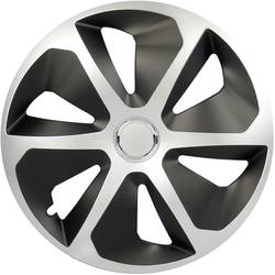 Poklice na kola Rocco R16 stříbrná, černá 4 ks cartrend