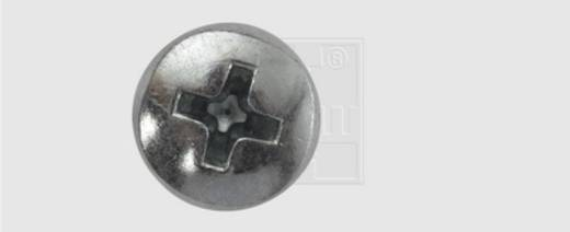 Gewindeschrauben-Sortiment M6 10 mm Kreuzschlitz Philips DIN 7985 Stahl verzinkt 100 St. SWG