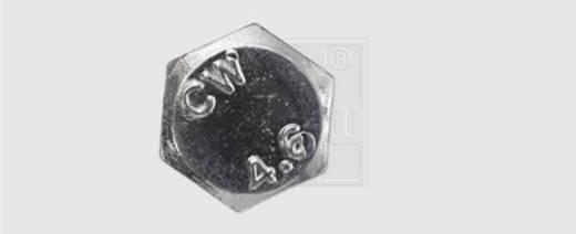 SWG Sechskantschraube 80 mm Außensechskant DIN 601 Stahl verzinkt 50 St.