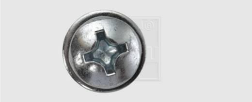 Nummernschild-Schrauben 5.5 mm 19 mm Kreuzschlitz Phillips Stahl verzinkt 100 St. SWG