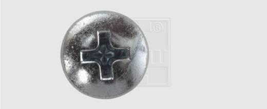 Nummernschild-Schrauben 5.6 mm 16 mm Kreuzschlitz Phillips Stahl verzinkt 100 St. SWG
