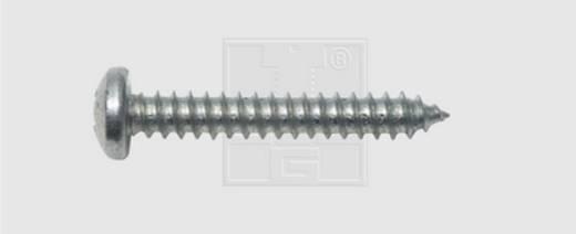 Blechschrauben 3.5 mm 16 mm Kreuzschlitz Phillips DIN 7981 Stahl verzinkt 100 St. SWG