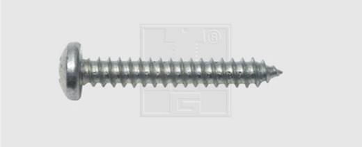 Blechschrauben 6.3 mm 16 mm Kreuzschlitz Phillips DIN 7981 Stahl verzinkt 100 St. SWG