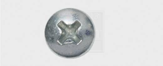 Blechschrauben 3.5 mm 9.5 mm Kreuzschlitz Phillips DIN 7981 Stahl verzinkt 100 St. SWG