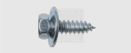 Blechschrauben 6.3 mm 16 mm Außensechskant DIN 7976 Stahl verzinkt 50 St. SWG