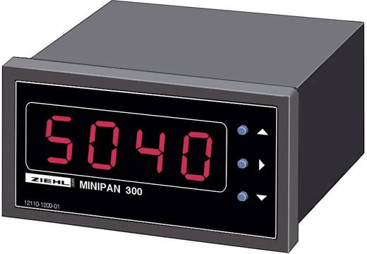 Ziehl MINIPAN 300 AC Digitales Einbaumessgerät MINIPAN 300 AC 1 mV - 500 V/AC / 1 mA - 1 A Einbaumaße 33 x 68 mm