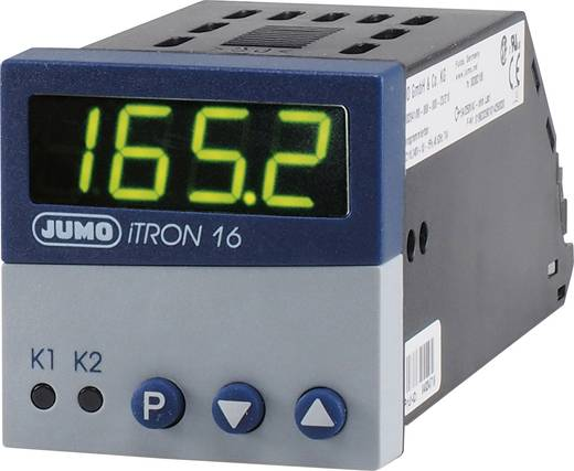 Jumo iTRON 16 PID Temperaturregler Pt100, Pt1000, KTY11-6, L, J, U, T, K, N, S, R, B -200 bis +1820 °C Relais 3 A, Trans