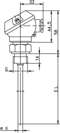 Temperatursensor Fühler-Typ Pt100 Messbereich Temperatur-50 bis 400 °C Fühlerbreite 6 mm Jumo