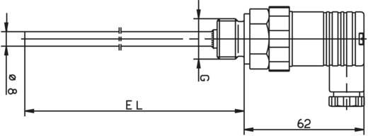 Temperatursensor Fühler-Typ Pt100 Messbereich Temperatur-50 bis 200 °C Fühlerbreite 8 mm Jumo