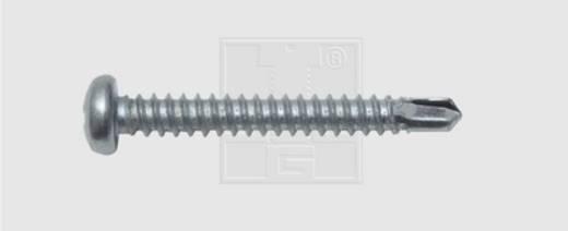 Bohrschrauben 4.8 mm 25 mm Kreuzschlitz Phillips DIN 7504-N Stahl verzinkt 100 St. SWG