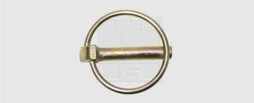Klappstecker Stahl verzinkt 10 St. SWG 472 6 55