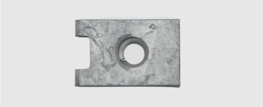 Blechmutter 3.5 mm Federstahl verzinkt 50 St. SWG 500 117 36 25