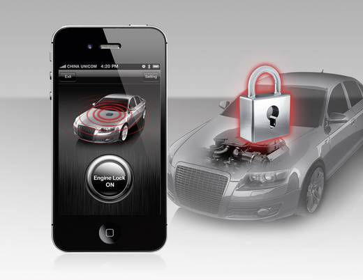 Auto Alarmanlage Smart Engine Lock for Android SteelMate 12 V