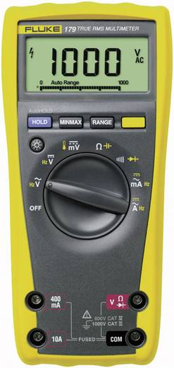 Fluke 179 Hand-Multimeter digital Kalibriert nach: Werksstandard (ohne Zertifikat) CAT III 1000 V, CAT IV 600 V Anzeige