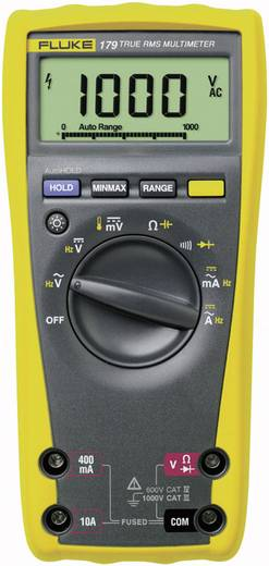 Hand-Multimeter digital Fluke 179/EDA2/EUR Kalibriert nach: Werksstandard CAT III 1000 V, CAT IV 600 V Anzeige (Counts): 6000