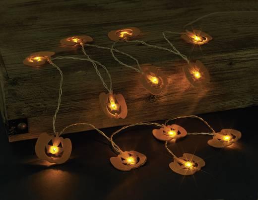 LED-Kürbislichterkette Orange