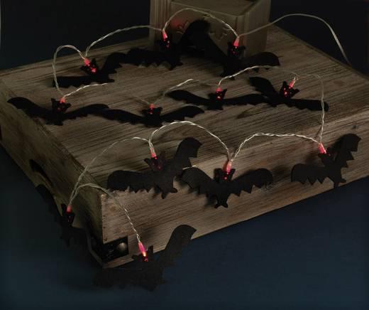 LED-Fledermauslichterkette Schwarz