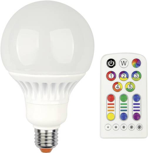LED E27 Globeform 13 W = 60 W RGBW (Ø x L) 100 mm x 160 mm EEK: A JEDI Lighting dimmbar, colorchanging 1 St.