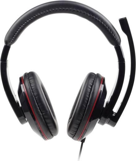 PC-Headset 3.5 mm Klinke schnurgebunden, Stereo Gembird MHS-001 Over Ear Schwarz