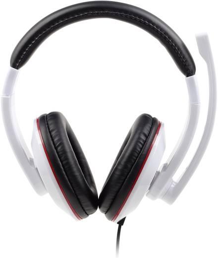 PC-Headset 3.5 mm Klinke schnurgebunden, Stereo Gembird MHS-001-GW Over Ear Schwarz