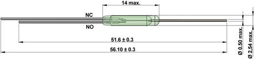 Reed-Kontakt 1 Wechsler 175 V/DC, 175 V/AC 0.5 A 20 W Glaskolbenlänge:14 mm StandexMeder Electronics KSK-1C90U-1530