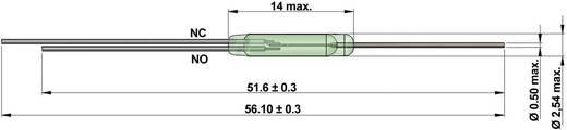StandexMeder Electronics KSK-1C90U-1530 Reed-Kontakt 1 Wechsler 175 V/DC, 175 V/AC 0.5 A 20 W Glaskolbenlänge:14 mm