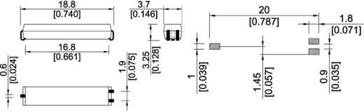 SMD-Reed-Kontakt 1 Schließer 200 V/DC, 200 V/AC 0.5 A 10 W StandexMeder Electronics MK01-B