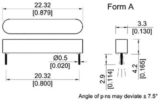 Reed-Kontakt 1 Schließer 180 V/DC, 180 V/AC 0.5 A 10 W StandexMeder Electronics MK06-8-C