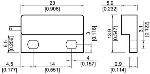 Reed-Kontakt 1 Schließer 180 V/DC, 180 V/AC 0.5 A 10 W StandexMeder Electronics MK04-1A66C-500W