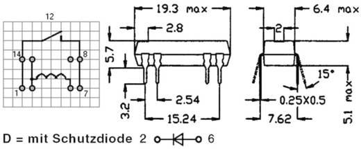 Reed-Relais 1 Schließer 12 V/DC 0.5 A 10 W DIP-8 StandexMeder Electronics DIP12-1A72-12L