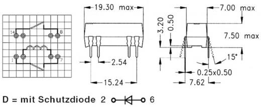 Reed-Relais 2 Schließer 12 V/DC 0.5 A 10 W DIP-8 StandexMeder Electronics DIP12-2A72-21D