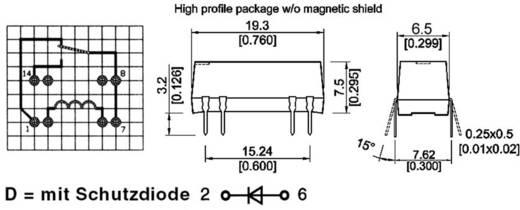 Reed-Relais 1 Wechsler 24 V/DC 0.5 A 10 W DIP-8 StandexMeder Electronics DIP24-1C90-51D