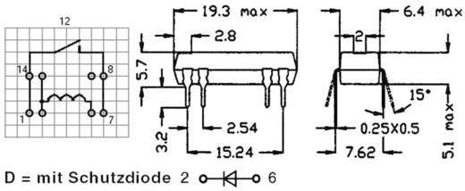 Reed-Relais 1 Schließer 24 V/DC 0.5 A 10 W DIP-8 StandexMeder Electronics DIP24-1A72-12L