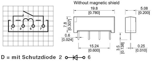 Reed-Relais 1 Schließer 12 V/DC 0.5 A 10 W SIL-4 StandexMeder Electronics SIL12-1A72-71D