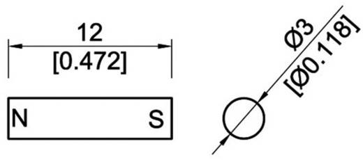 StandexMeder Electronics 4003004010 Permanent-Magnet Stab AlNiCo Grenztemperatur (max.): 400 °C